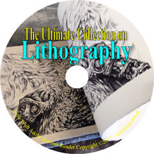 15 Books on CD – Lithography, Art Artwork Printing Stone Metal Plate Oil Water