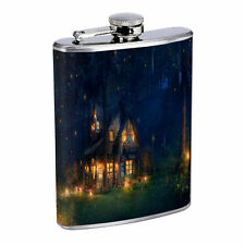 Fireflies D5 Flask 8oz Stainless Steel Hip Drinking Whiskey Insect Glow Bugs