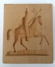 altes Holz Model Springerle Spekulatius Backform Lanzenreiter 9 x 7,5 x 1,5 cm
