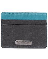 $55 PERRY ELLIS MENS BLUE CANVAS PHOTO ID 5CC HOLDER CREDIT CARD CASE WALLET 94