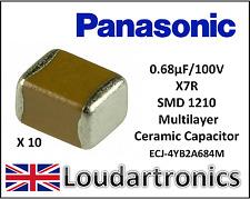 0.68uF, 680nF, 100 V X7R  MLCC,SMD 1210,. Part # Panasonic ECJ-4YB2A684M