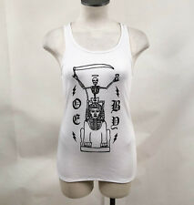 Obey Women's Racerback Tank Top Afterlife White Size S NWT Sphinx Skeleton Skull