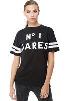 RRP £30 New Mens Ladies No 1 Cares Crew Neck Black T-Shirt Top Tee Sz L - XL