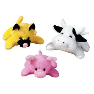 "Zanies - Dog Puppy Training Toy - Bitty Buddies - Cat, Cow, Pig - 3"""
