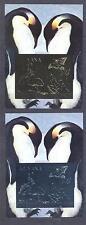 GUYANA 1992, Butterflies, Rabbit, Penguin, gold+silver, Deluxe. 2SS,  No gum(15)