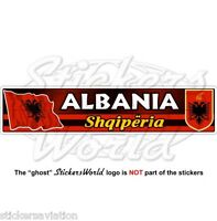 "ALBANIA Albanian Flag-Coat of Arms Shqiperia 180mm (7,1"") Vinyl Sticker, Decal"