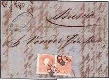 LOMBARDO VENETO 1859 - 5 s. n.25 I TIPO COPPIA SPL MILANO X BRESCIA € 350