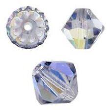 Swarovski Crystal Bicone Violet AB 2X 6mm. Approx. 48 PCS. 5328