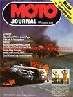 MOTO JOURNAL 184 NORTON 850 Commando Grand Prix Yougoslavie GUZZI 750 V7 1974