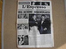 GRACE KELLY WEDDING RANIERI MONACO 1956 COVER L ' ESPRESSO ITALIAN MAG