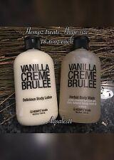 ((2))HEMPZ treats Delicious Body lotion & Body Wash ~ VANILLA CREME BRULEE~18.6
