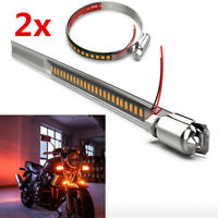 Universal Motorcycle Bikes LED Turn Signal Indicator Strip Light Fork Tube 12V