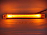 LED UMRISSLEUCHTE - LICHTLEITERTECHNINK MIT 2 LED - GELB - 242 x 28 MM