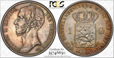 1848 Netherlands Gulden  PCGS AU Details