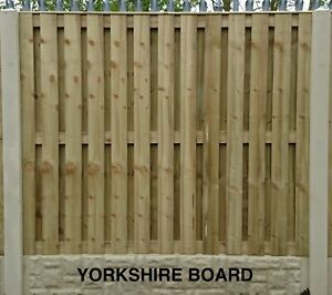 Yorkshire Board Pressure Treated & Tanalised Fence Panel 6ftWx5ftH