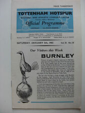 Burnley Away Team FA Cup Football Programmes