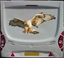 More details for 1x hawk 78cm print caravan motor home camper decals stickers bird of prey eagle