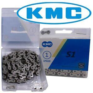 KMC Silver-Brown 1/8 Bike Chain S1 BMX Fixed Gear Singlespeed Cruiser fit Z410