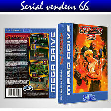 "BOX, CASE ""STREETS OF RAGE 3"".MEGADRIVE.BOX + COVER PRINTED.NO GAME.MULTILINGUAL"