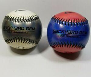 Set of 2 Nike Backyard Gem Baseball Safety Soft Practice Ball Training Silver