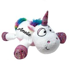 Einhorn mit Name Personalisiert Plüschtier Wunschname Geschenk Unicorn weiß