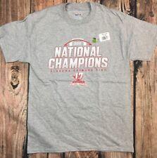 Mens Tee TShirt Gray Alabama Crimson Tide National Champions 2017 Size M
