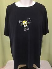 Vintage Weezer Women's Black T Shirt Size 4X Cinderblock