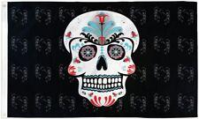 Sugar Skull Pirate 3x5' Flag Dia De Los Muertos New Day of the Dead Banner