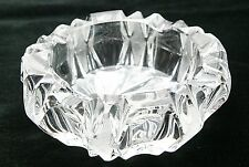 Vintage Bohemian Crystal Ashtray. Hand Cut.