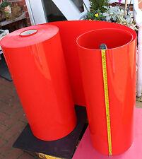3 m  PVC Folie  feuerrot  0,5 mm x 640 mm  Modellbau Tiefziehen Deko Lampe