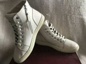 Ralph Lauren Polo High Top White Leather Trainers NEW