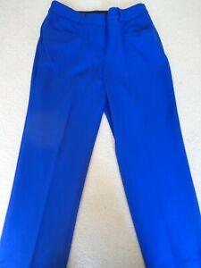 Ladies 'Meghan' Blue Cropped Capri Trousers, Comfort Waistband, Magisculpt 12