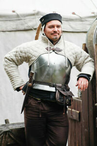 Medieval Short Gambeson jacket | Size  XS to 2XL | Off White Color