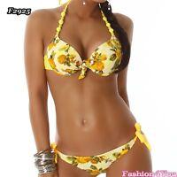 Women's Floral Bikini Swimsuit Sexy Ladies Summer Beachwear Size 6,8,10,12,14 UK