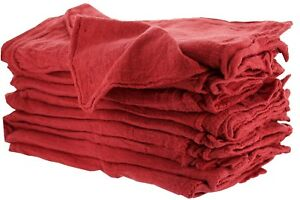 1000 INDUSTRIAL SHOP RAGS / CLEANING TOWELS RED