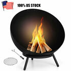 24 inch Wood Burning Fire Pit Fire Bowl Cast Iron Heater For Outdoor Backyard