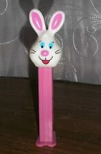PEZ Bunny White Happy Face Pink Body Feet Slovenia Spring Easter Collectible