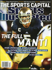 Notre Dame Sports Illustrated Manti Te'o 2012 No Label Newsstand The Full Manti