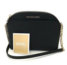 Michael Kors * Emmy MD Crossbody Bag in Black Leather 35H7GY3C2L COD PayPal