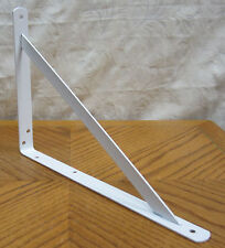 "8 Heavy Duty White Steel 12"" x 8"" Shelf Brackets! 500 Lb Metal Lot L Countertop"