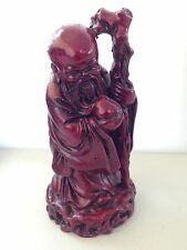 Vintage Chinese 11cm God of Longevity Long Life Good Luck Feng Shui Statue