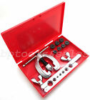 10 Pc Double Flaring Tool Kit Brake Air Line Set Automotive Repair Compressor