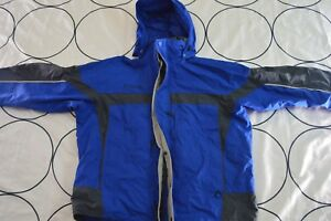 Men COLUMBIA Interchange Core Snow Ski Winter Jacket Shell  XLARGE XL Hooded🔥B3