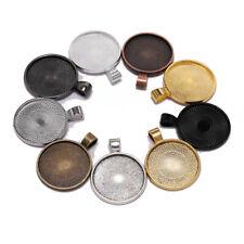 10pcs 25mm Cabochon Base Tray Bezels Blank Necklace Pendant DIY Jewelry Making#Q