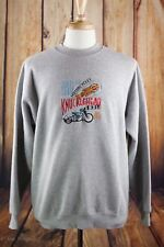 Harley Davidson Rare Lee Heavyweight Vintage 1936 Knucklehead Sweater Size L B18