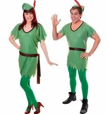 UNISEX ROBIN HOOD PETER PAN GREEN XMAS ELF FANCY DRESS COSTUME OUTFIT CHRISTMAS