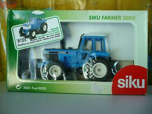 SIKU Tracteur FORD 8830 bleu, ref 2855, échelle 1/32 + boîte