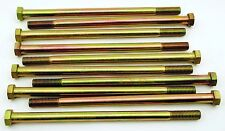 """(5) Hex Head 5/8-11 x 12"""" Grade 8 Bolts Yellow Zinc Cap Screws"""
