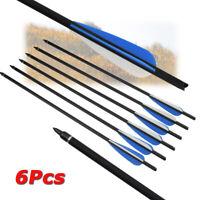 """16//20/"""" Archery Carbon Arrows Practice Nocks Fletches Target Points Arrow Quiver"""
