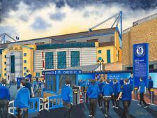Chelsea FC Stamford Bridge Stadium. Top Quality Framed Art Print. Approx A4.